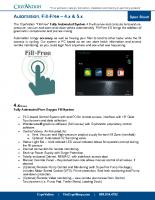 CryoVation – Fill-Free 4.0 – 5.0 Automation SPEC Sheets