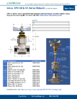 CryoVation – Valve CPV G0 G1 with Rebuild SPEC Sheets