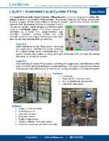 CryoVation – LiquiFill Automated Low Losses Liquid Filling LiquiPhil SPEC Sheets